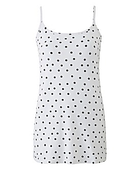 Black Spot Stretch Camisole