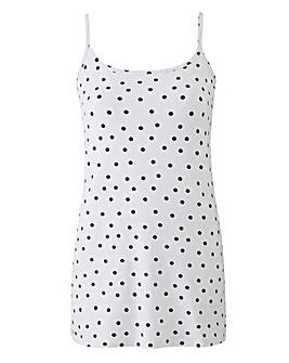 Black Spot Stretch Camisole