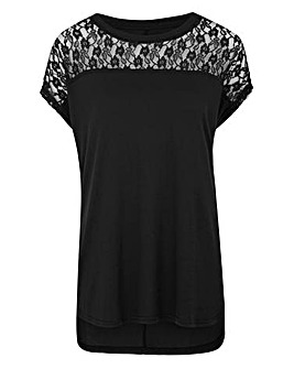 Black Lace Front T-shirt