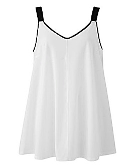 White Woven Strap Swing Cami Top