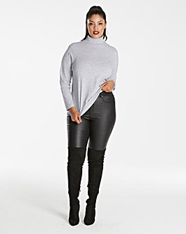 Grey/Black Pack of 2 Roll Neck Tops