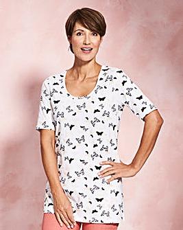 Blush Print Half Sleeve Jersey Tunic