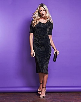 Glitter Side Tuck Dress