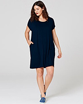 Indigo T-shirt Pocket Dress