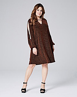 Glitter Knit Swing Dress