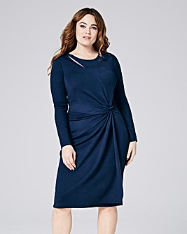 Long Sleeve Twist Knot Dress