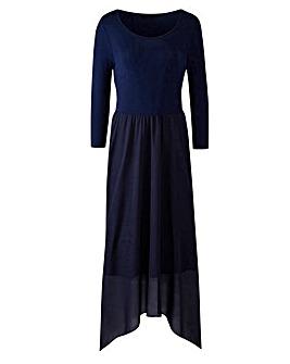 Jersey Woven Midi Dress