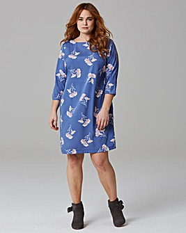 Split Sleeve Tunic Dress