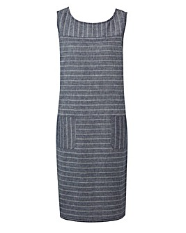 Navy Stripe Linen Dress