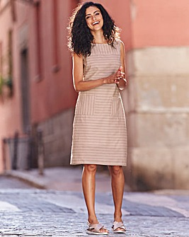 Stone Stripe Linen Dress