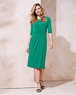 Dark Green Twist Knot Dress