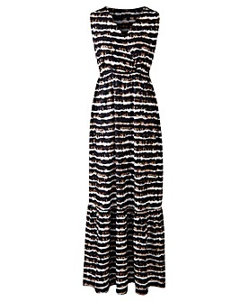 Wrap Front Jersey Maxi Dress