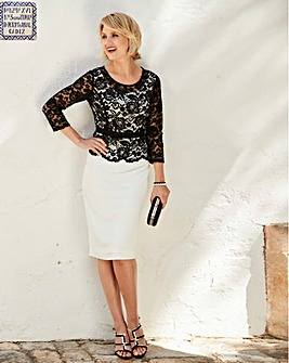 Nightingales Contrast Lace Dress