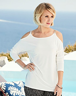 Nightingales Cold Shoulder Top