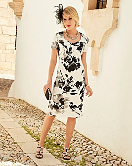 Nightingales Mono Print Dress