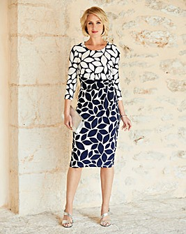 Nightingales Print Dress