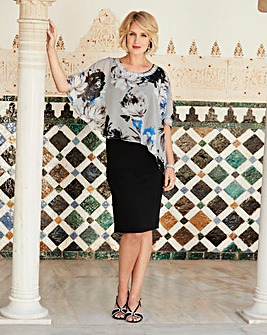 Nightingales Dress With Cape And Beading