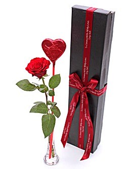 Romantic Red Rose & Lollipop Giftbox