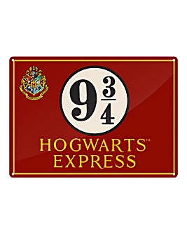 Harry Potter Hogwarts Tin Sign