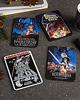 Set of 4 Star Wars Film Poster Coasters