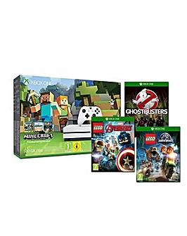 Xbox One S 500GB Minecraft Inc 3 Games