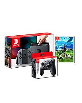 Nintendo Switch Grey Console Bundle
