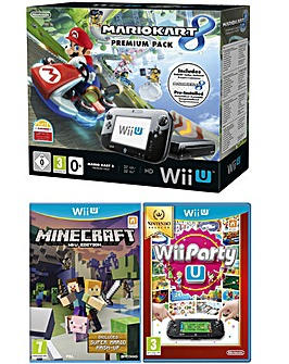 WiiU Mario Kart + Minecraft + Party U