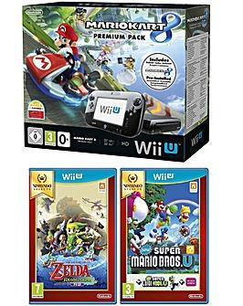 WiiU Mario Kart + Zelda:WW + Mario Bros