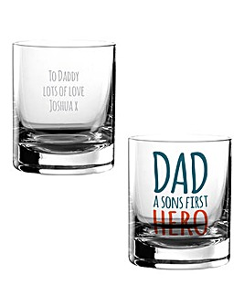 Personalised Dad First Hero Tumbler