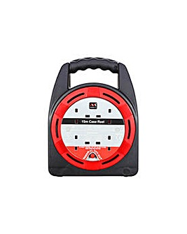 Masterplug 4 Socket Cable Reel - 15m.
