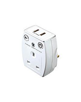 Masterplug USB Surge Adaptor.
