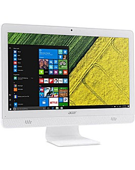 "Acer 19.5"" All In One Quadcore - White"