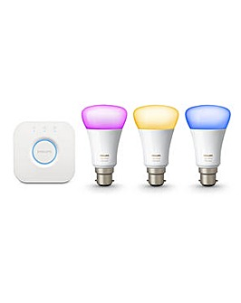 Hue White & Color Amb Starter Kit (B22)
