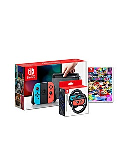 Switch Console  Mario Kart 8 and Wheels