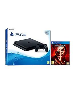PS4 Slim 500gb Black Console  Tekken 7