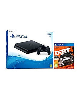 PS4 Slim 500gb Console and Dirt Rally