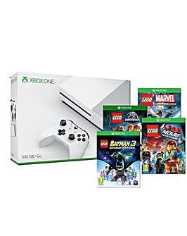 Xbox One S 500gb White  4 Lego Games