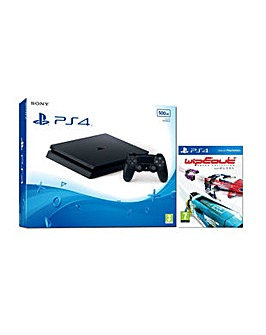 PS4 Slim 500gb Black Console  Wipeout