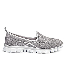 Cushion Walk Slip On Trainers EEEEE Fit