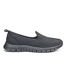 Cushion Walk Slip on Trainers E Fit