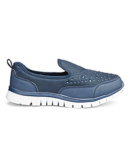 Cushion Walk Diamante Trainers EEE Fit