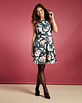 Simply Be Floral Print Skater Dress