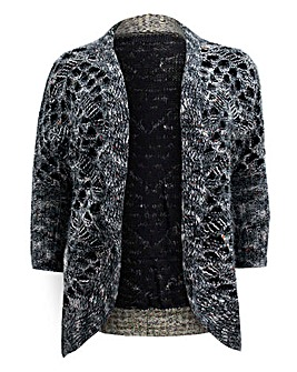Koko Fluffy Edge-To-Edge Knitted Cardi