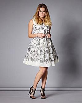 Little Mistress Print Prom Dress