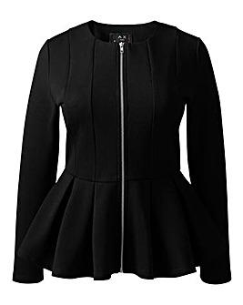 AX Paris Peplum Zip Detail Jacket