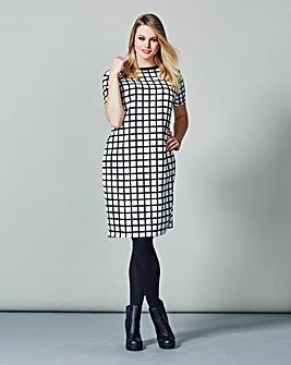 AX Paris Check Grid Print Shift Dress