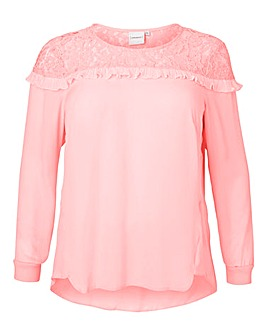 Junarose Lace Trim Blouse
