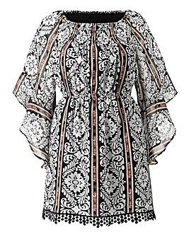 AX Paris Off The Shoulder Print Dress