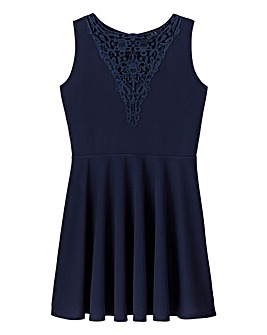 AX Paris Crochet Insert Skater Dress