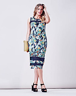 Simply Be Tropical Print Bodycon Dress